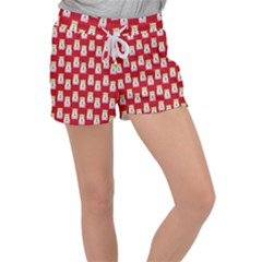 Ghost Pet Red Women s Velour Lounge Shorts