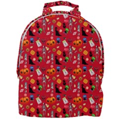 Halloween Treats Pattern Red Mini Full Print Backpack by snowwhitegirl
