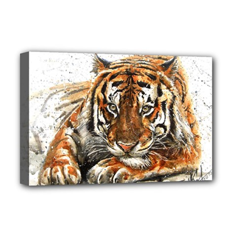 Tiger Sign Deluxe Canvas 18  X 12  (stretched)