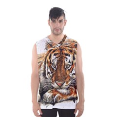 Tiger Sign Men s Basketball Tank Top