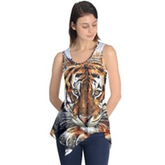 Tiger Sign Sleeveless Tunic