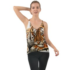 Tiger Sign Chiffon Cami