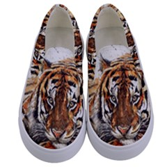 Tiger Sign Kids  Canvas Slip Ons