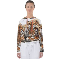 Tiger Sign Women s Slouchy Sweat