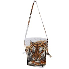 Tiger Sign Folding Shoulder Bag by kostart