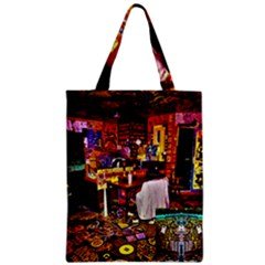 Painted House Zipper Classic Tote Bag