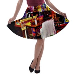 Painted House A Line Skater Skirt