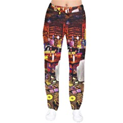 Painted House Velvet Drawstring Pants