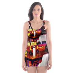 Painted House Skater Dress Swimsuit