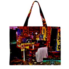 Painted House Zipper Medium Tote Bag
