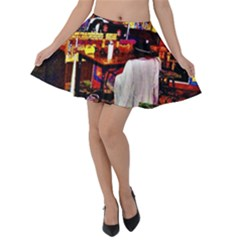 Painted House Velvet Skater Skirt