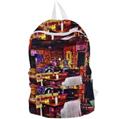 Painted House Foldable Lightweight Backpack