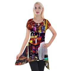 Painted House Short Sleeve Side Drop Tunic