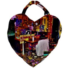 Painted House Giant Heart Shaped Tote