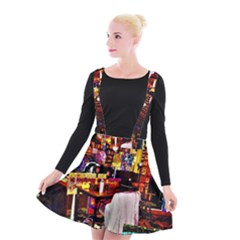 Painted House Suspender Skater Skirt