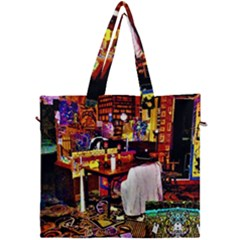 Painted House Canvas Travel Bag