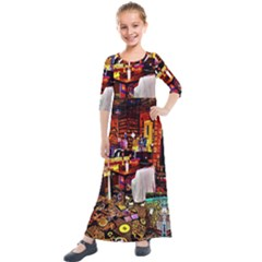 Painted House Kids  Quarter Sleeve Maxi Dress by MRTACPANS