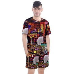 Painted House Men s Mesh Tee And Shorts Set