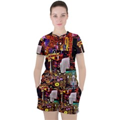 Painted House Women s Tee And Shorts Set