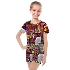 Painted House Kids  Mesh Tee And Shorts Set