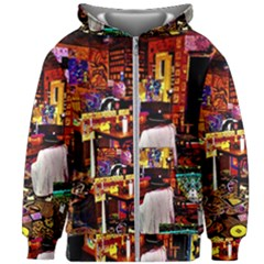 Painted House Kids Zipper Hoodie Without Drawstring