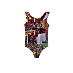 Painted House Kids  Frill Swimsuit