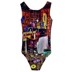 Painted House Kids  Cut Out Back One Piece Swimsuit