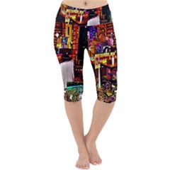 Painted House Lightweight Velour Cropped Yoga Leggings