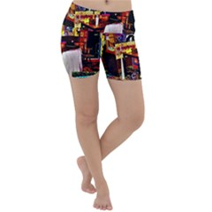 Painted House Lightweight Velour Yoga Shorts
