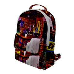 Painted House Flap Pocket Backpack (large) by MRTACPANS