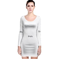 Christmas Birds Pattern Long Sleeve Bodycon Dress