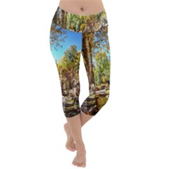 Landscape # 2 The Path Lightweight Velour Capri Yoga Leggings