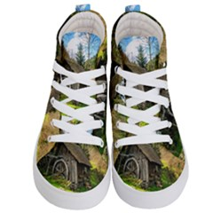 Landscape # 3 The Shed Kid s Hi Top Skate Sneakers