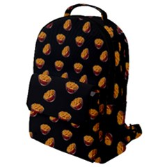 Kawaii Chips Black Flap Pocket Backpack (small) by snowwhitegirl