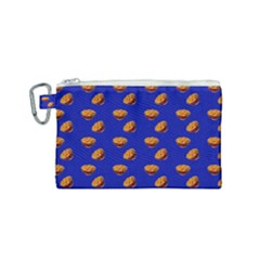 Kawaii Chips Blue Canvas Cosmetic Bag (small) by snowwhitegirl