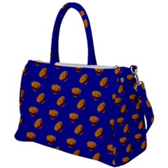 Kawaii Chips Blue Duffel Travel Bag by snowwhitegirl