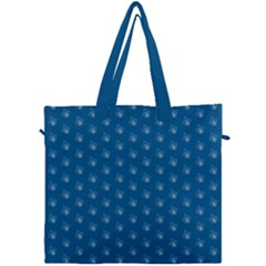 Quebec French Royal Fleur De Lys Elegant Pattern Blue Blue Quebec Fleur De Lys Pattern Blue Canvas Travel Bag