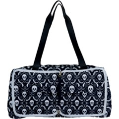 Pattern Skull And Bats Vintage Halloween Black Multi Function Bag by snek