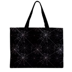 Pattern Spiderweb Halloween Gothic On Black Background Mini Tote Bag