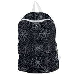 Pattern Spiderweb Halloween Gothic On Black Background Foldable Lightweight Backpack