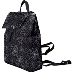 Pattern Spiderweb Halloween Gothic On Black Background Buckle Everyday Backpack