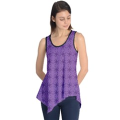 Pattern Spiders Purple And Black Halloween Gothic Modern Sleeveless Tunic