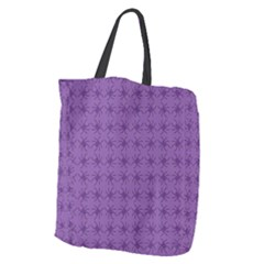 Pattern Spiders Purple And Black Halloween Gothic Modern Giant Grocery Tote by snek