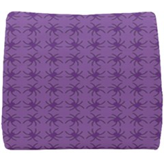 Pattern Spiders Purple And Black Halloween Gothic Modern Seat Cushion