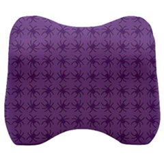 Pattern Spiders Purple And Black Halloween Gothic Modern Velour Head Support Cushion by snek