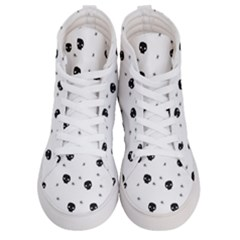 Pattern Skull Stars Handrawn Naive Halloween Gothic Black And White Men s Hi Top Skate Sneakers