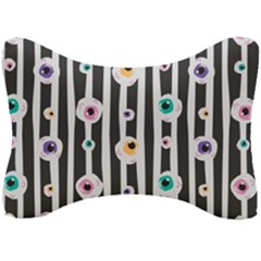 Pattern Eyeball Black And White Naive Stripes Gothic Halloween Seat Head Rest Cushion