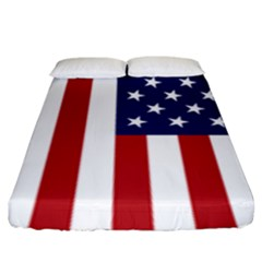 Us Flag Stars And Stripes Maga Fitted Sheet (king Size)