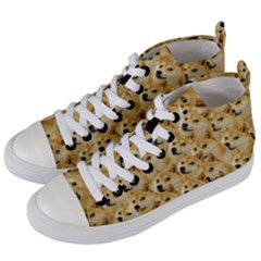 Doge Meme Doggo Kekistan Funny Pattern Women s Mid Top Canvas Sneakers by snek