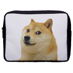 White Doge Meme Alone13k Cowcowshirt Black 15 10 10 100 Make Up Pouch (large)